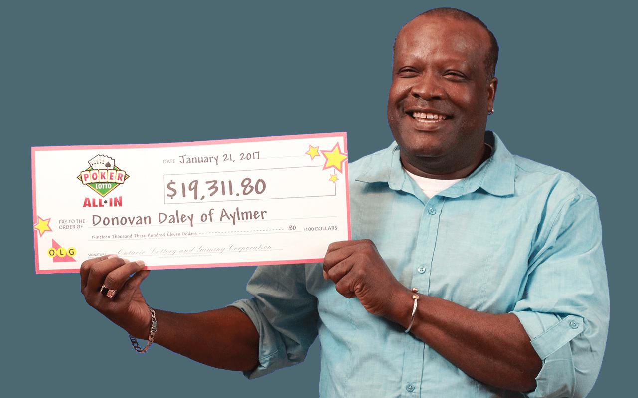 RECENT Poker Lotto WINNER - Donovan Daley