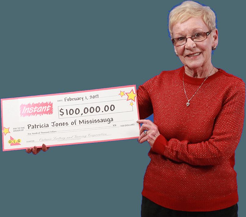 RECENT Instant WINNER - Patricia Jones