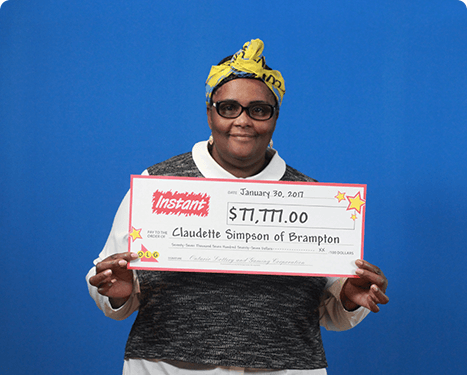 RECENT Instant WINNER - Claudette Simpson