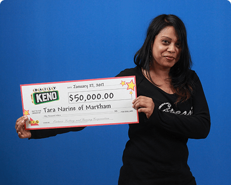 RECENT Daily Keno WINNER - Tara Narine