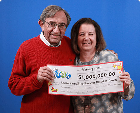 RECENT Lotto Max WINNERS - Ameen Karmally & Rozanne Reszel