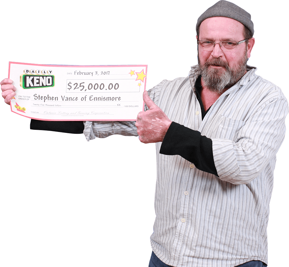 RECENT Daily Keno WINNER - Stephen Vance