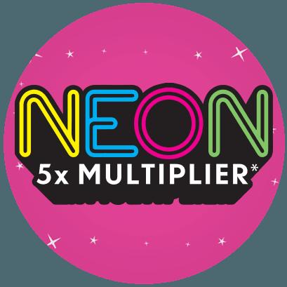 Neon 5X multiplier logo