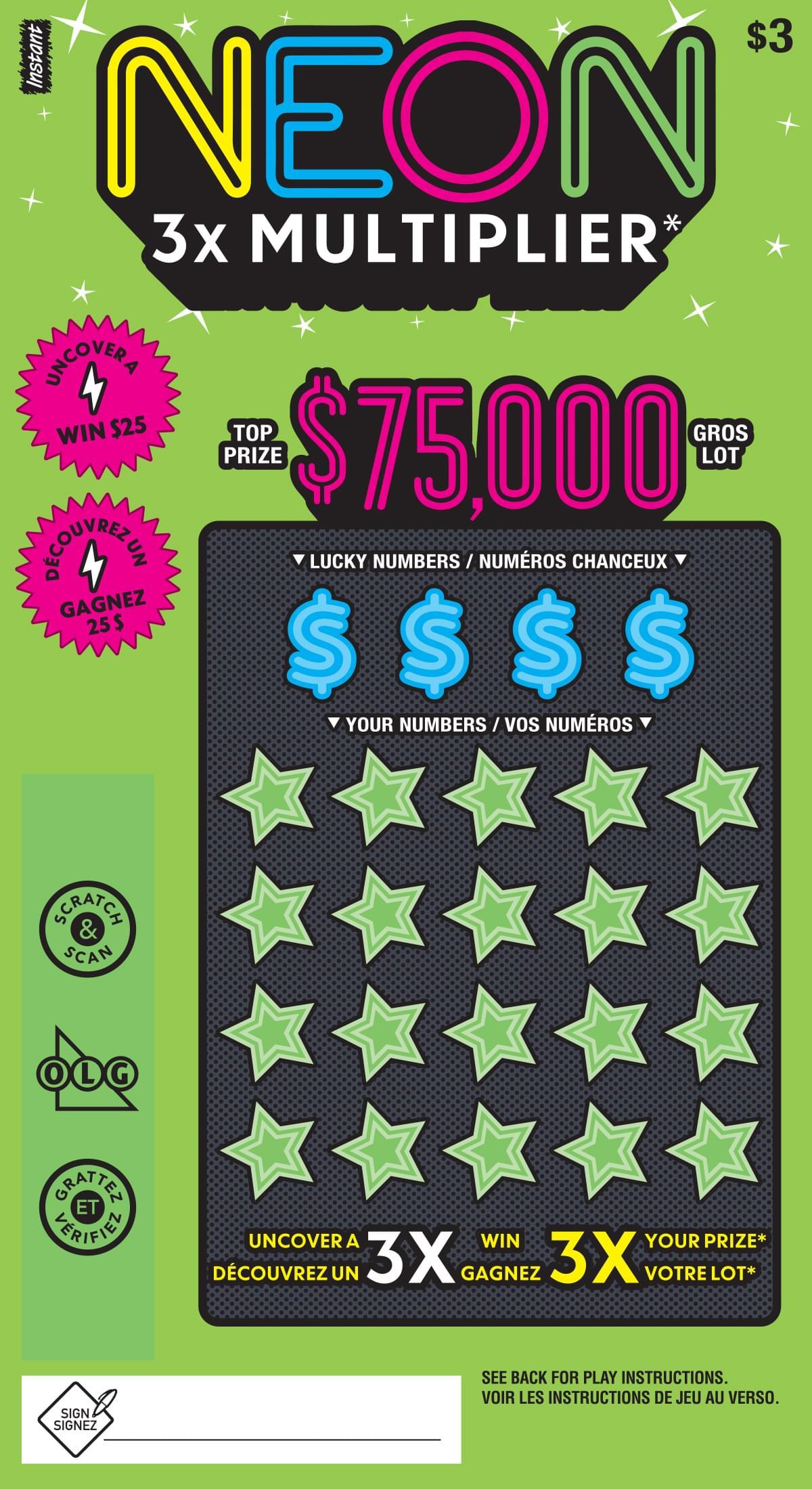 Neon 3X Multiplier ticket