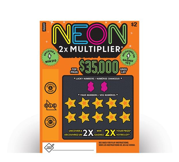 Billet de NEON 2X MULTIPLIER