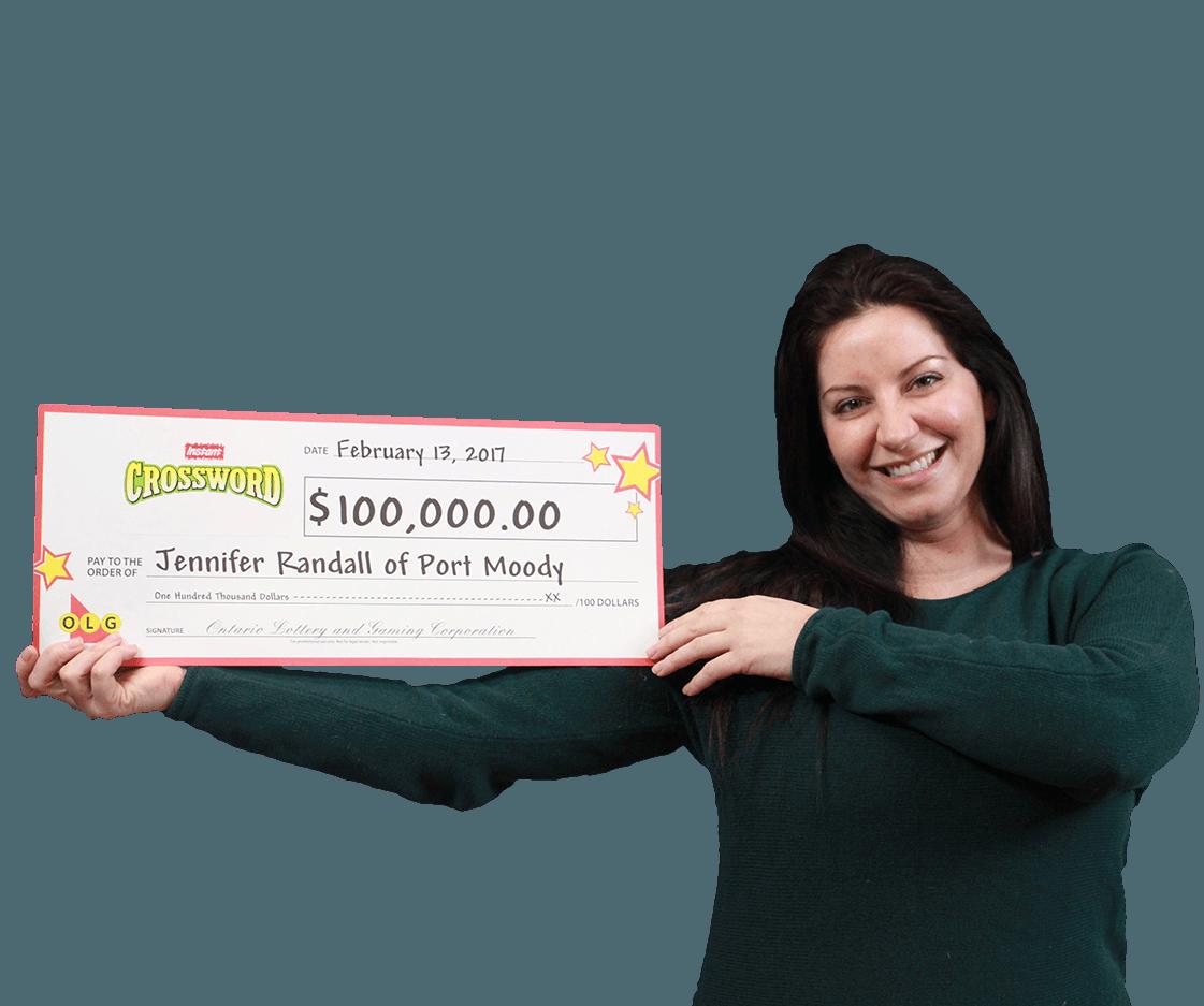 RECENT Instant WINNER - Jennifer Randall