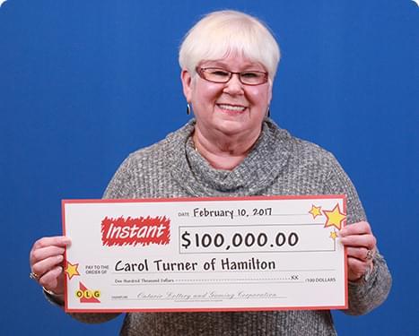 RECENT Instant WINNER - Carol Turner