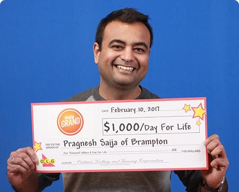 GAGNANT RÉCENT À DAILY GRAND - Pragnesh Saija-Daily Grand Winner