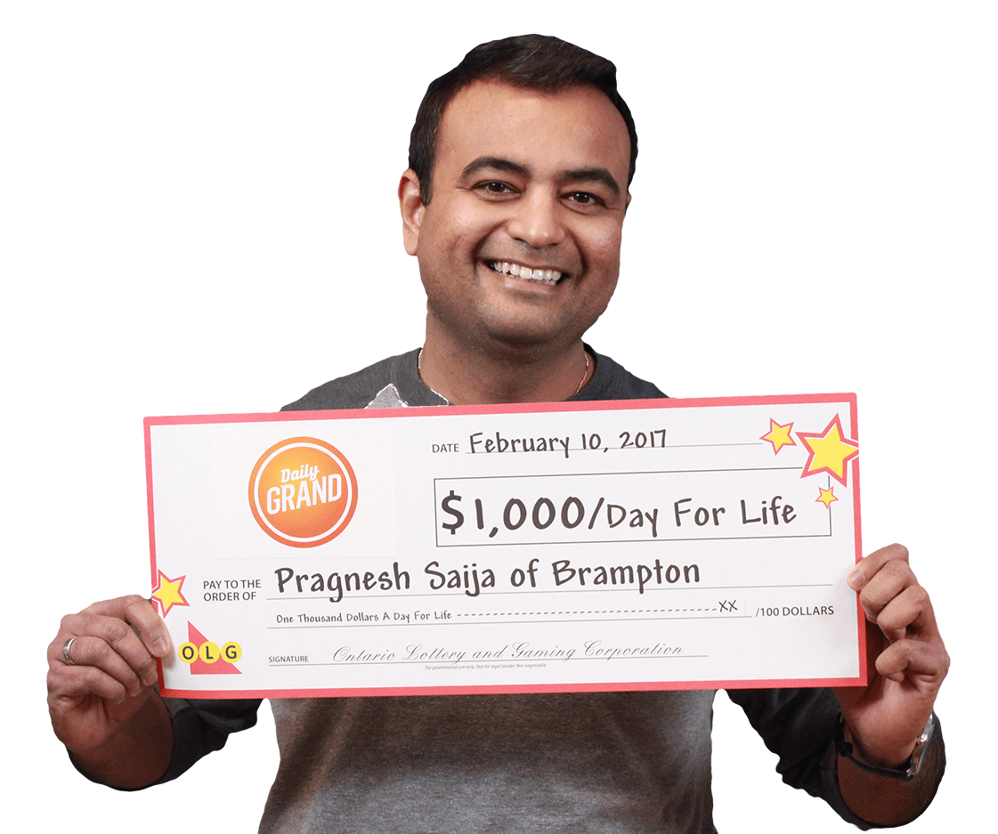 GAGNANT RÉCENT À DAILY GRAND - Pragnesh Saija