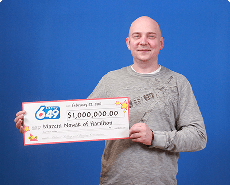RECENT Lotto 6/49 WINNER - Marcin Nowak