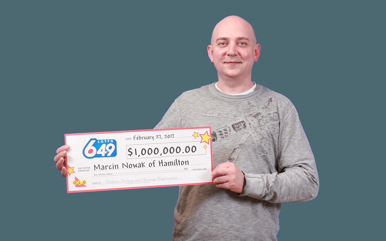 GAGNANT RÉCENT À Lotto 6/49 - Marcin Nowak