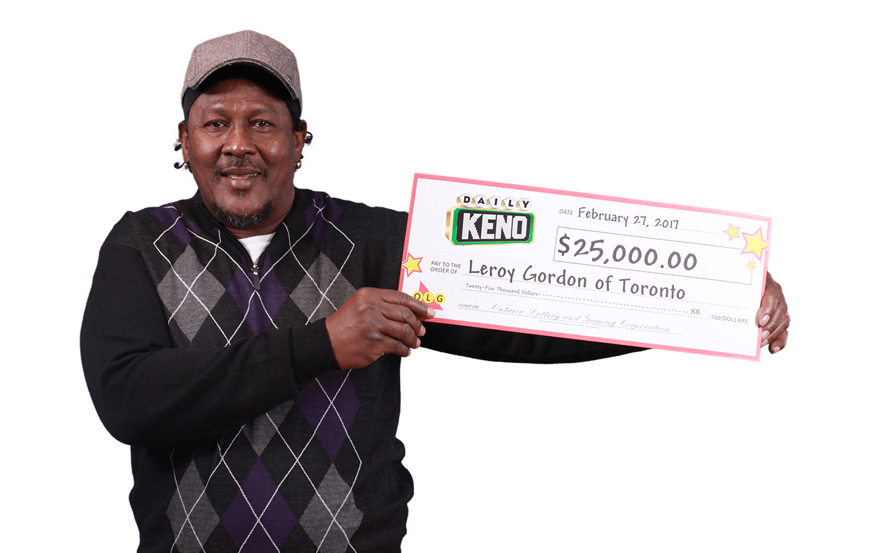 RECENT Daily Keno WINNER - Leroy Gordon
