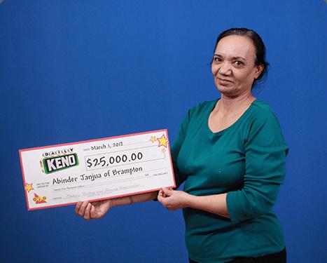 RECENT Daily Keno WINNER - Abinder Janjua