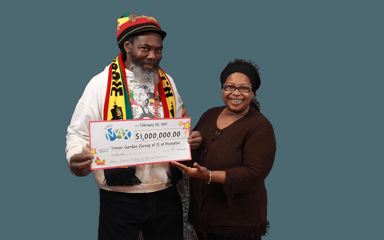 RECENT Lotto Max WINNERS - Trevor Gordon & Rosemarie Allen-Gordon