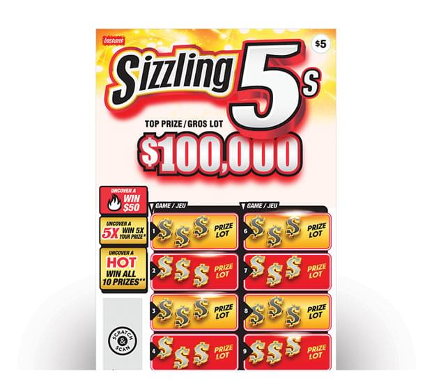 SIZZLING 5s ticket