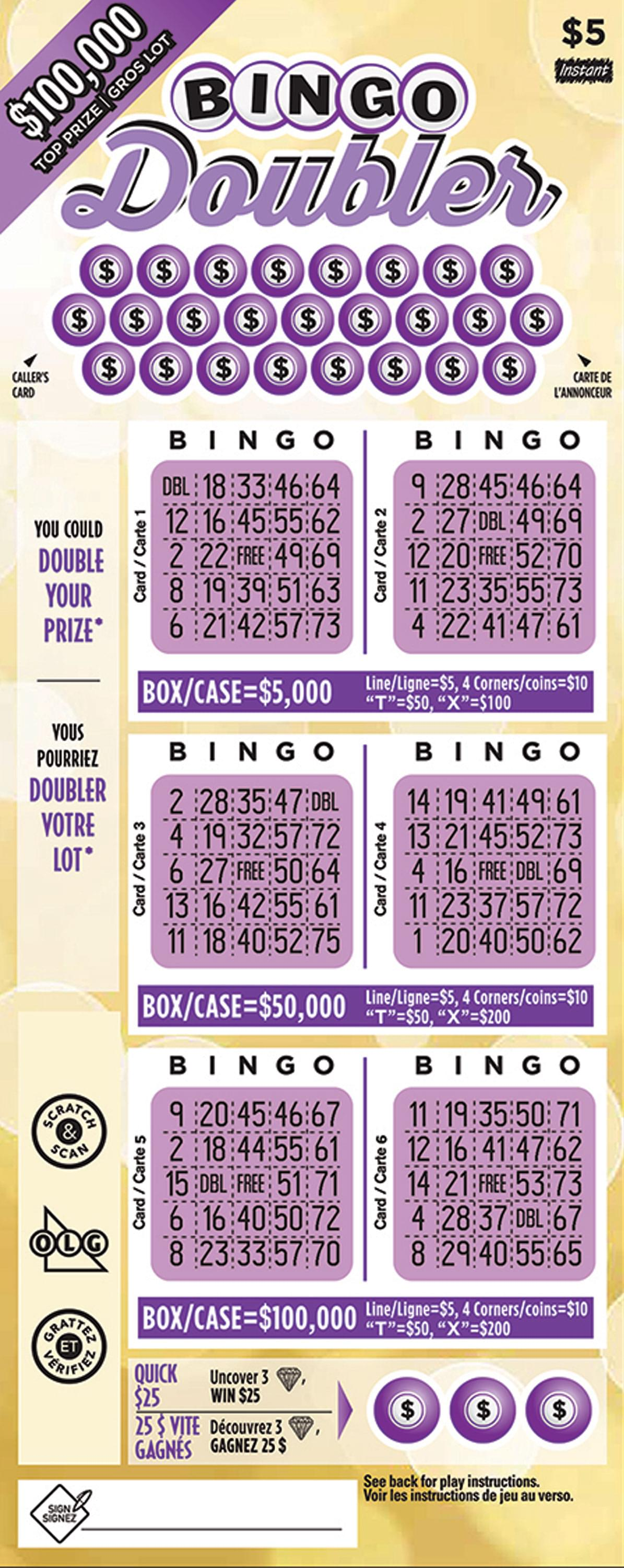 Bingo Doubler 1851 ticket