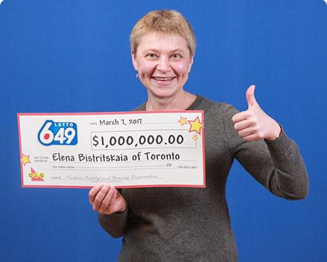 RECENT Lotto 6/49 WINNER - Elena Bistritskaia