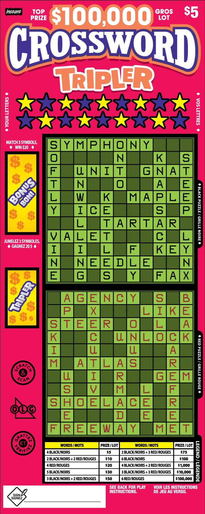 Crossword Tripler Ticket