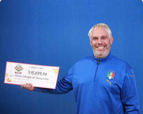 RECENT Poker Lotto WINNER - Victor Calcagni