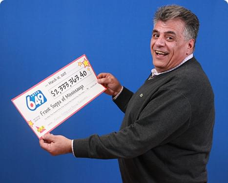 GAGNANT RÉCENT À Lotto 6/49 - Frank Suppa