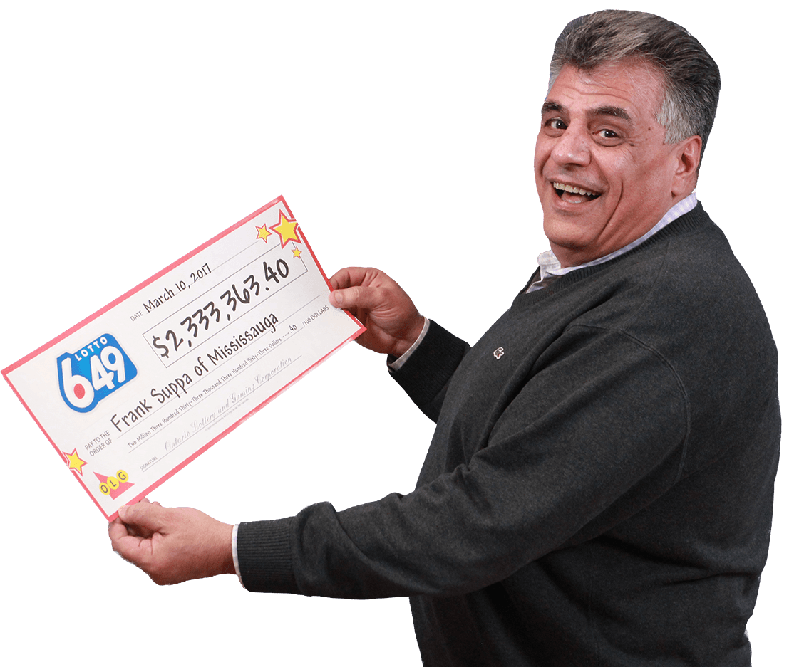RECENT Lotto 6/49 WINNER - Frank Suppa