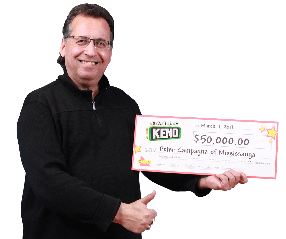 RECENT Daily Keno WINNER - Peter Campagna