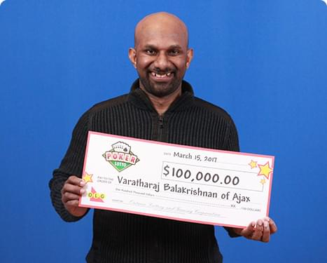 RECENT Poker Lotto WINNER - Varatharaj Balakrishnan