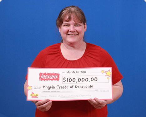 RECENT Instant WINNER - Angela Fraser