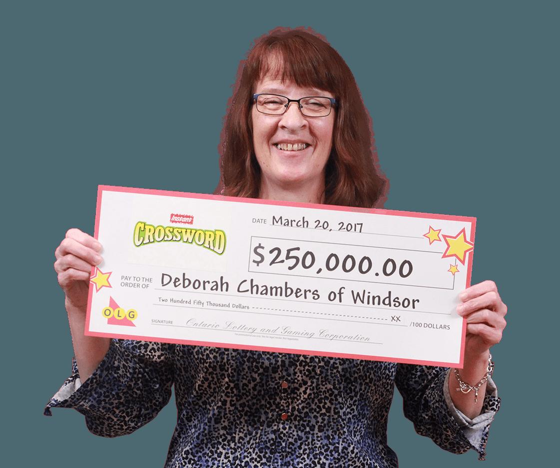 RECENT Instant WINNER - Deborah Chambers