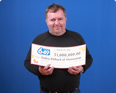 RECENT Lotto 6/49 WINNER - Andriy Kikhard