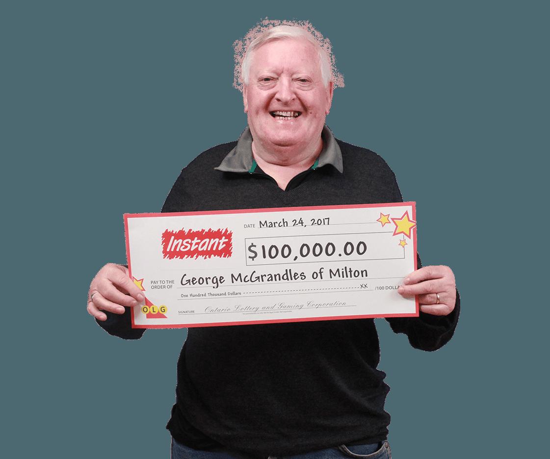 RECENT Instant WINNER - George McGrandles