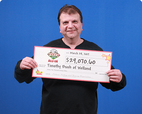 RECENT Poker Lotto WINNER - Timothy Bush