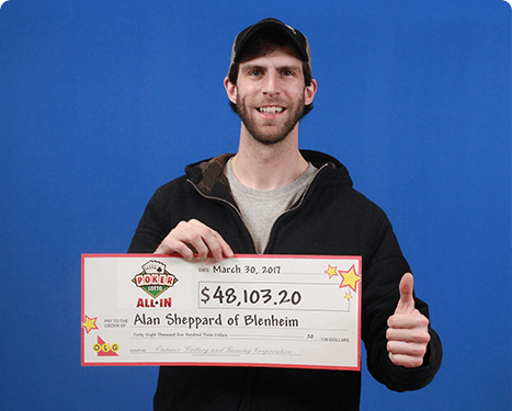 RECENT Poker Lotto WINNER - Alan Sheppard