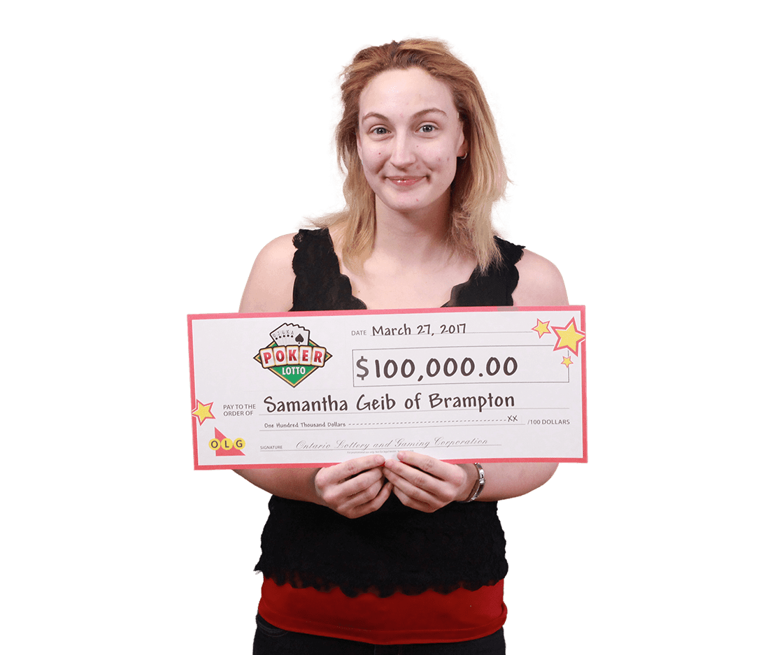 RECENT Poker Lotto WINNER - Samantha Geib