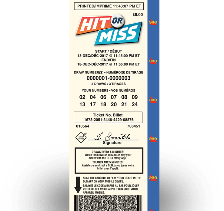 HIT OR MISS Ticket