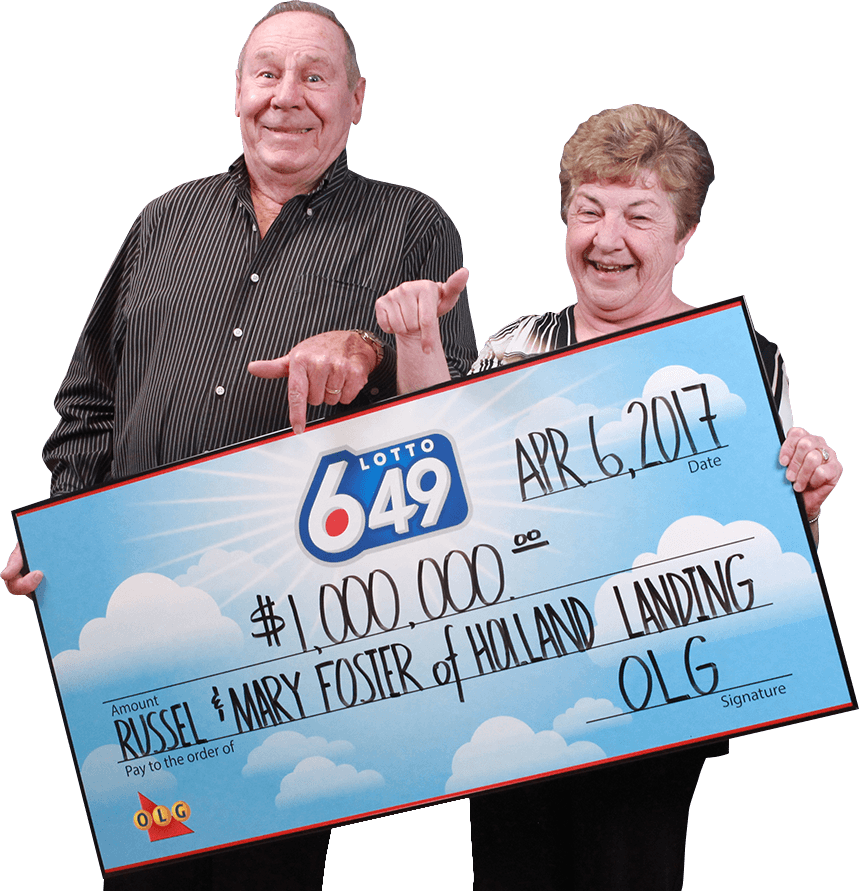 RECENT Lotto 6/49 WINNERS - Russel & Mary Foster