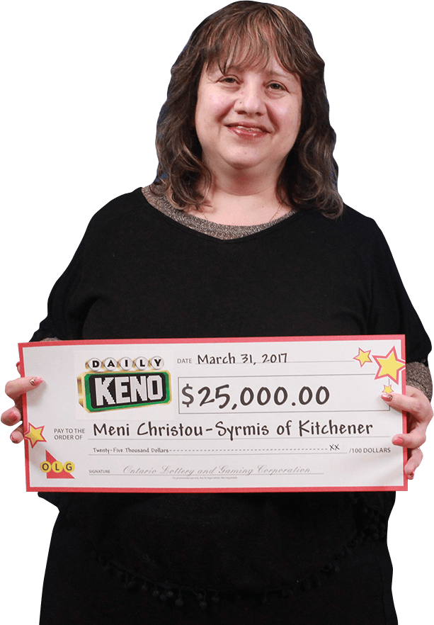 RECENT Daily Keno WINNER - Meni Christou-Syrmis