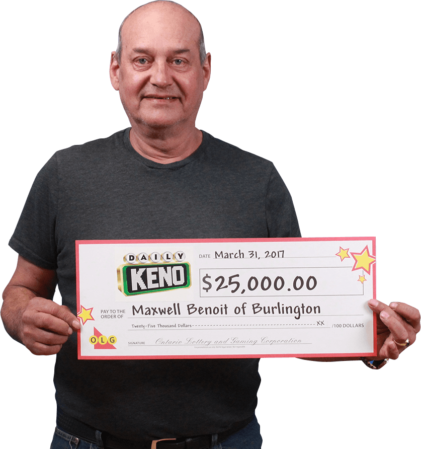 RECENT Daily Keno WINNER - Maxwell Benoit