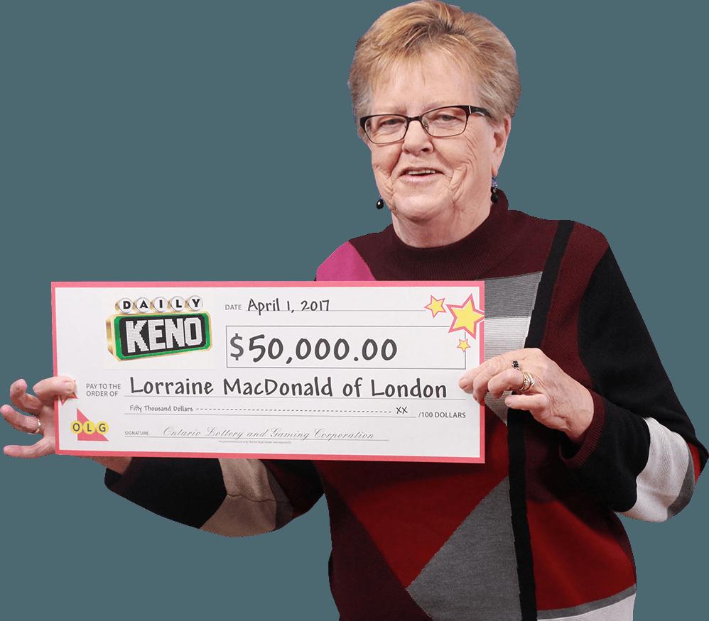 RECENT Daily Keno WINNER - Lorraine MacDonald