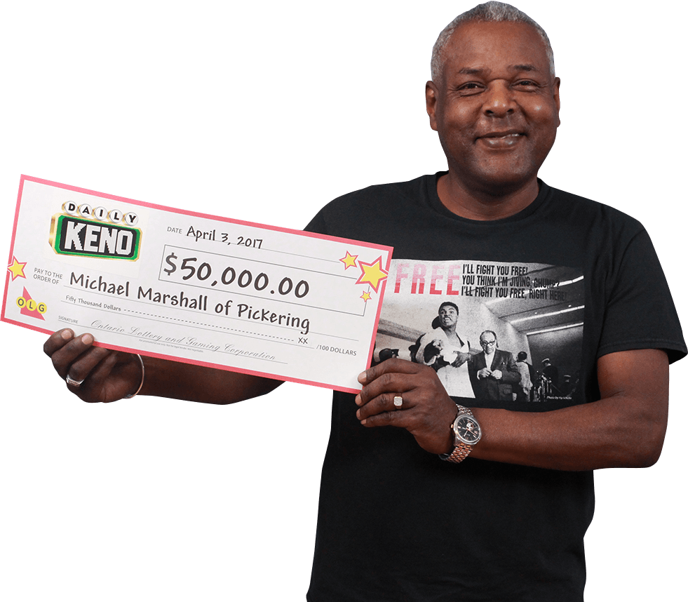 RECENT Daily Keno WINNER - Michael Marshall