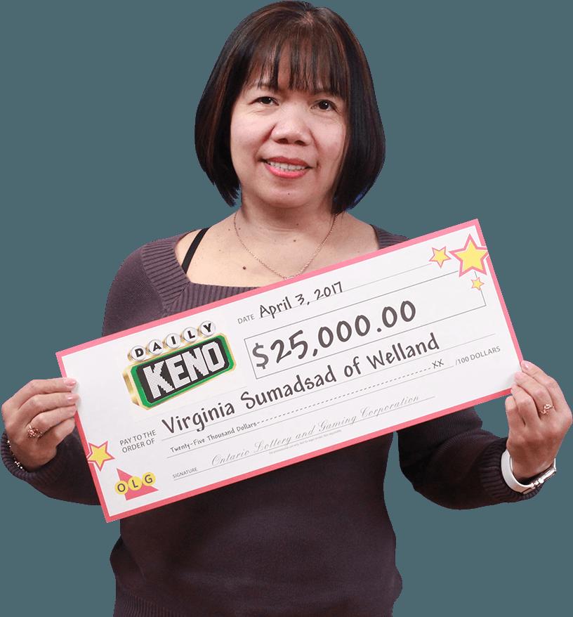 RECENT Daily Keno WINNER - Virginia Sumadsad