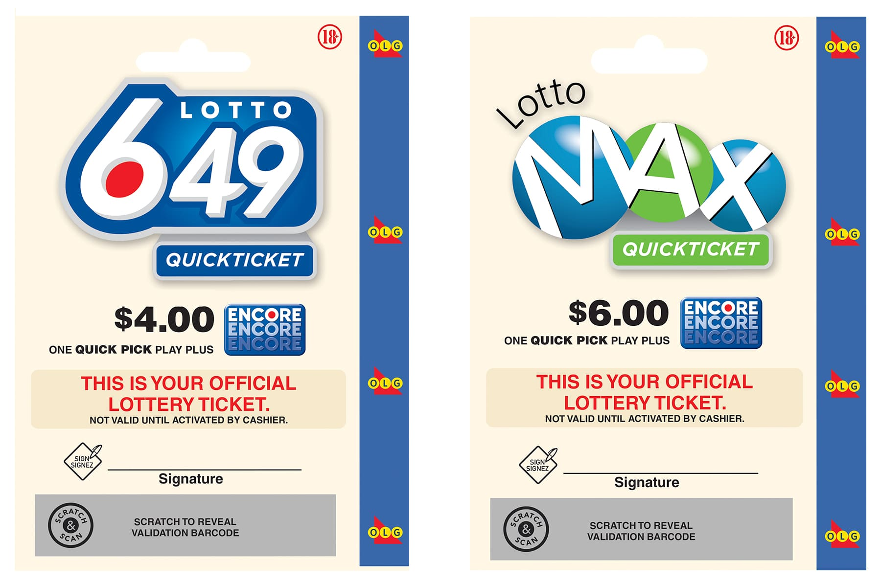 Three Lottery gift cards