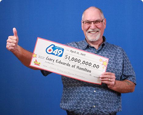 GAGNANT RÉCENT À Lotto 6/49 - Gary Edwards