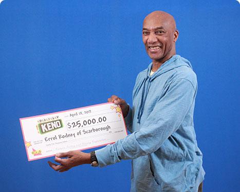 RECENT Daily Keno WINNER - Errol Rodney