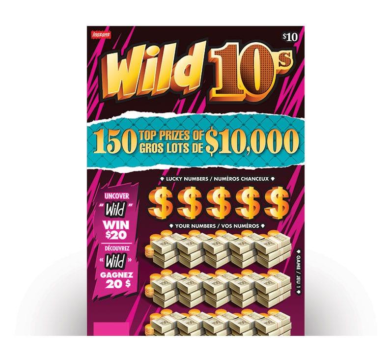 WILD 10s Ticket