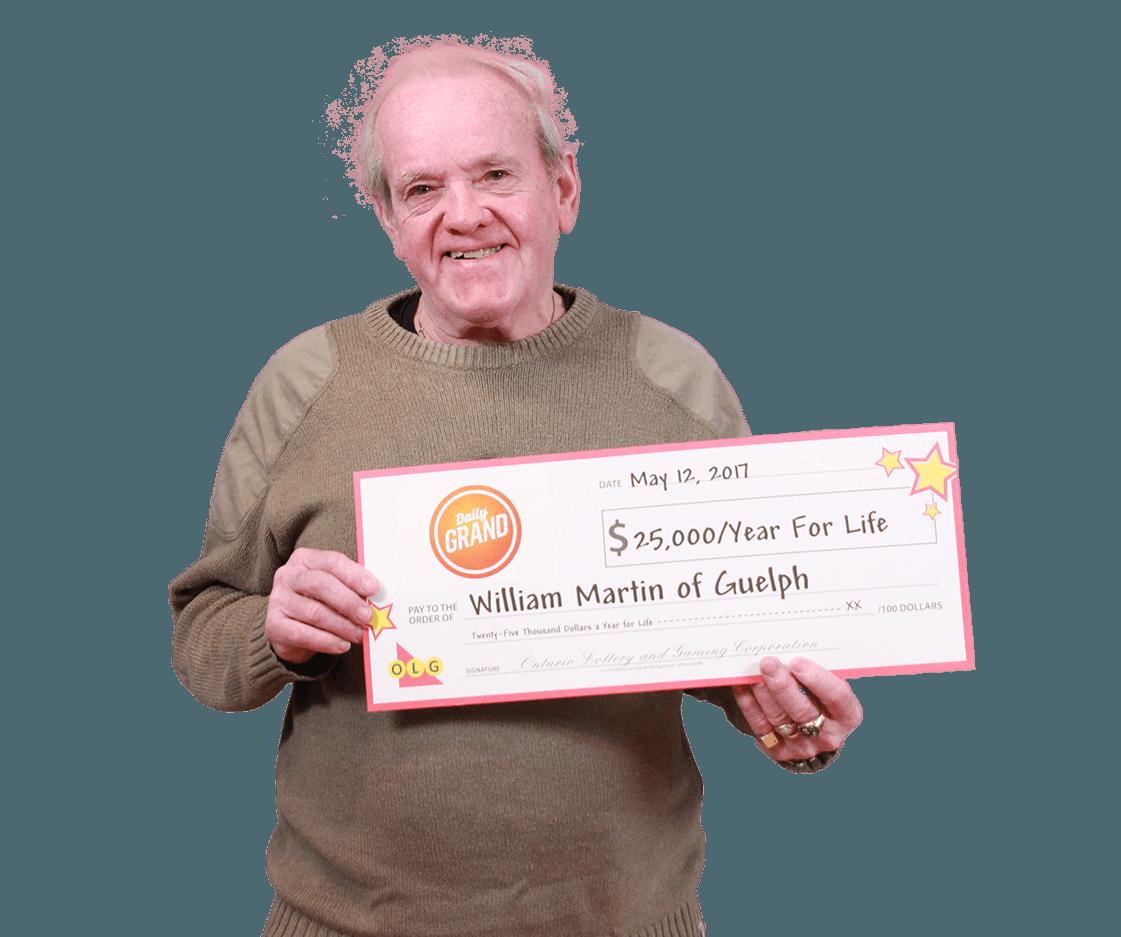 RECENT DAILY GRAND WINNER - William Martin