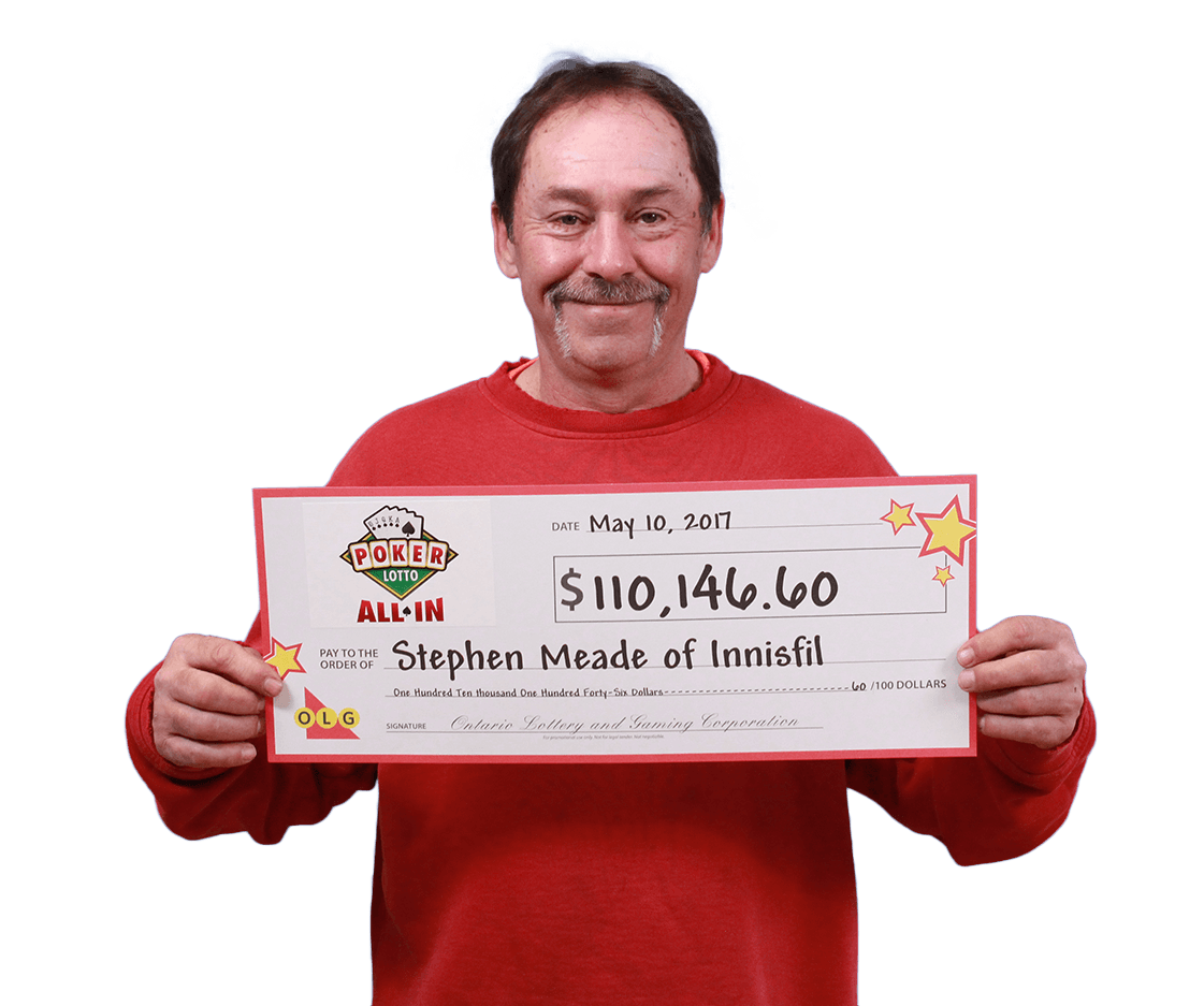 RECENT Poker Lotto WINNER - Stephen Meade