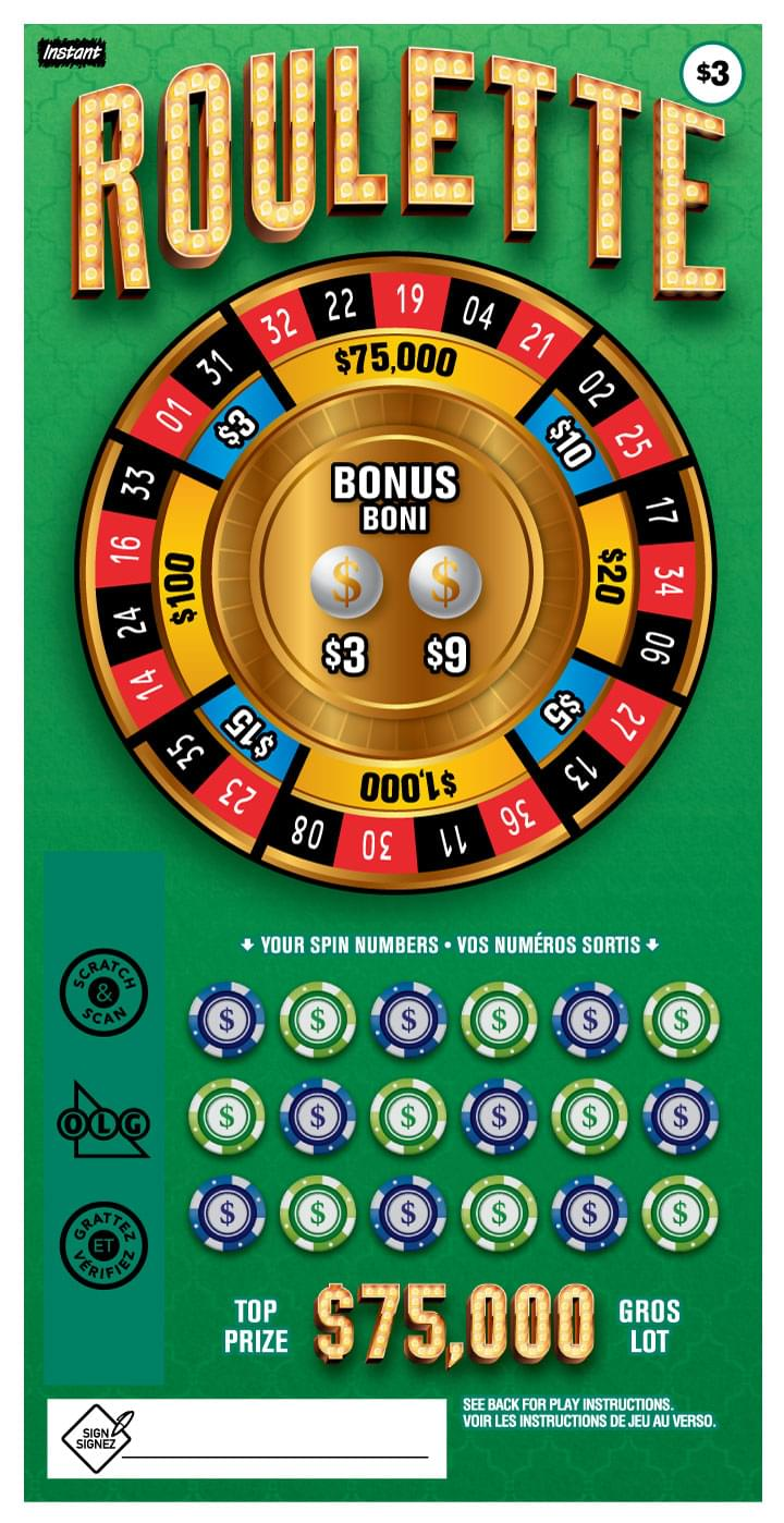 Roulette ticket