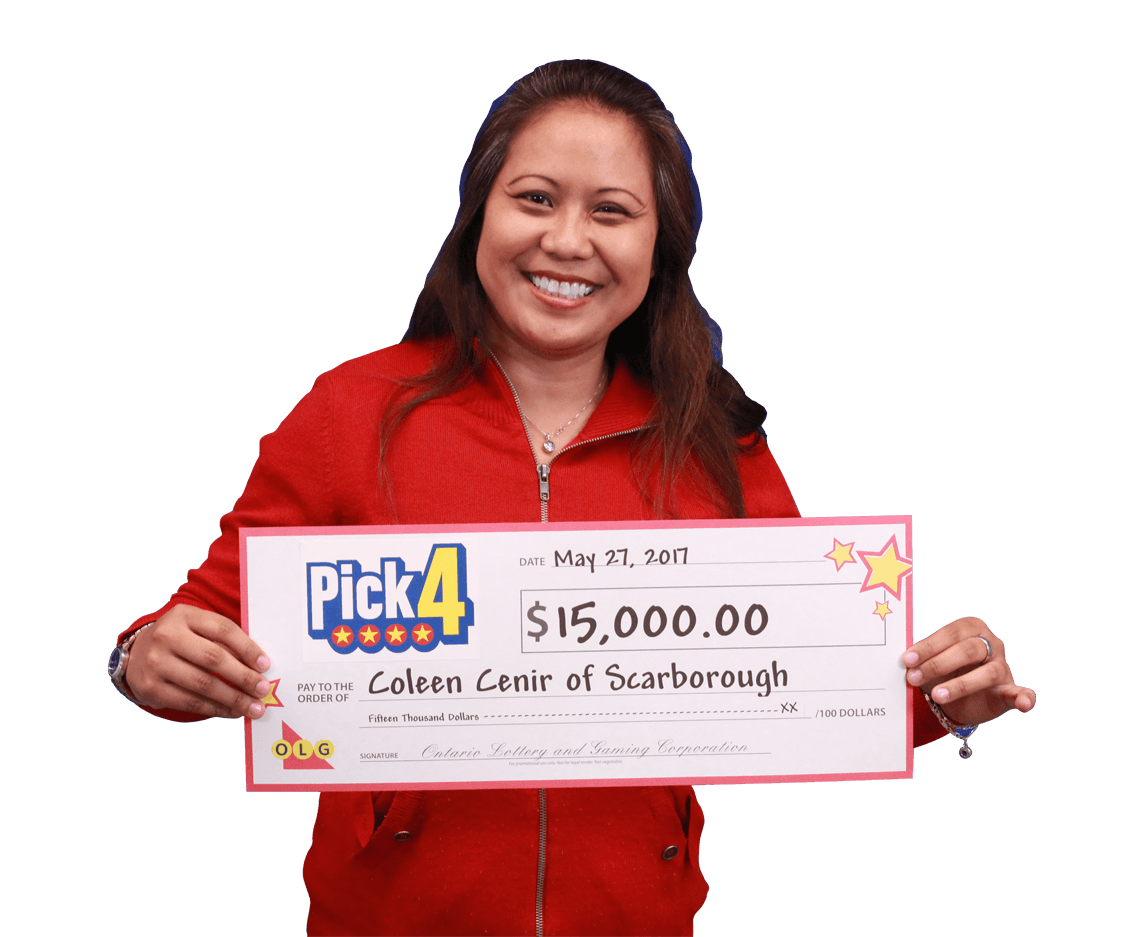 RECENT Pick-4 WINNER - Coleen Cenir