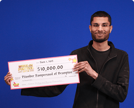 RECENT Wheel of Fortune® Lotto WINNER - Pitamber Rampersaud